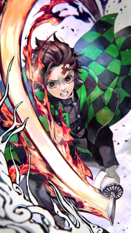 Best Demon Slayer Tanjiro Kamado Hd Wallpaper 2020 Demon Kamado Slayer Tanjiro Wallpaper Wallpaper 2020 Wallpape Di 2020 Gambar Manga Seni Anime Gambar Karakter