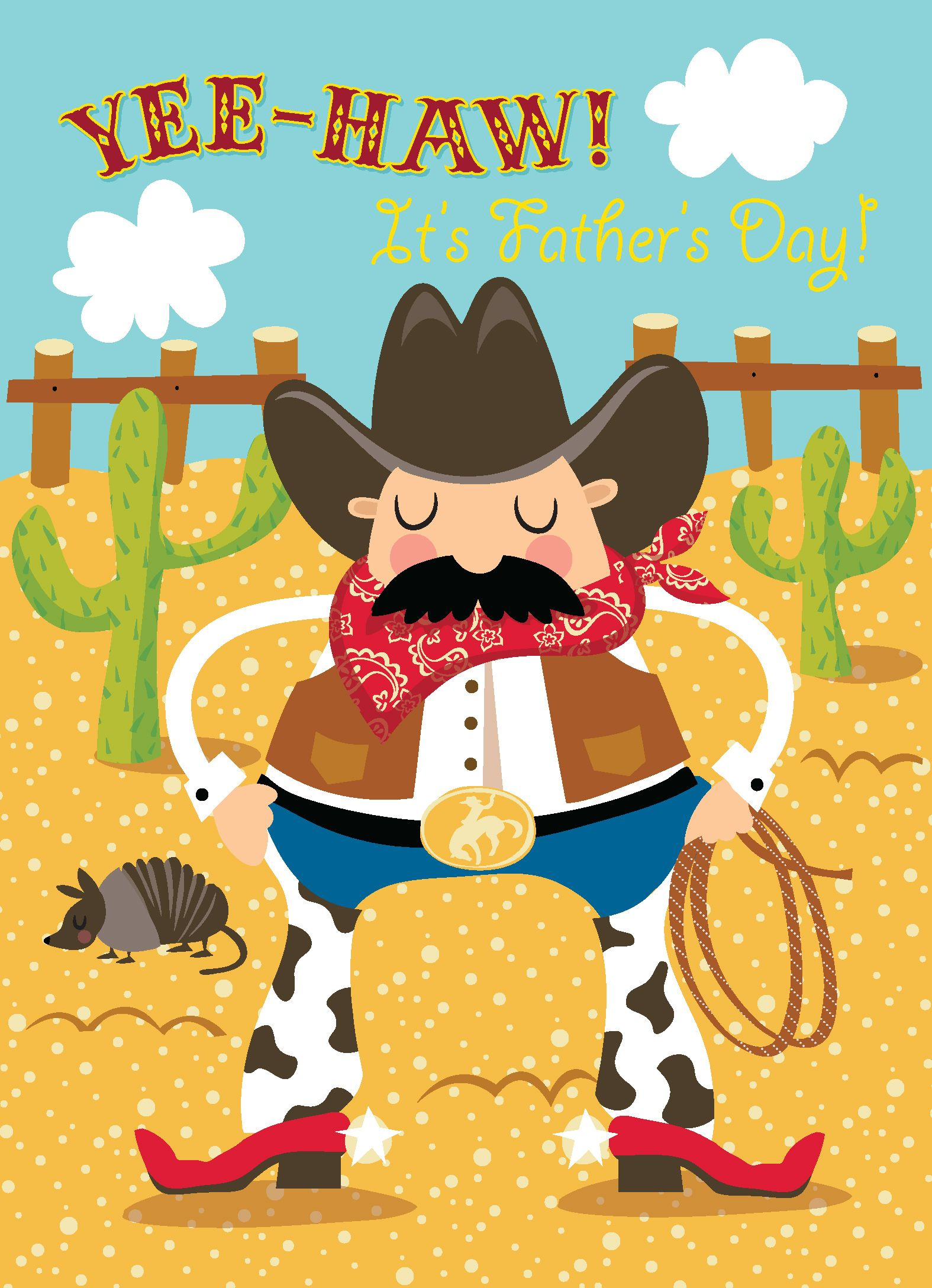 Yee haw happy fathers day an adorable cowboy greeting card to an adorable cowboy greeting card to daddy from child fathersdaygifts fathersdaycards greetingcardideas m4hsunfo