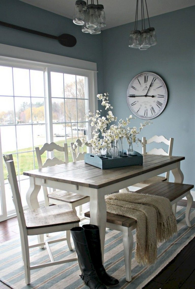 56+ Rural Farmhouse Dining Room Furniture Decor Ideas ...
