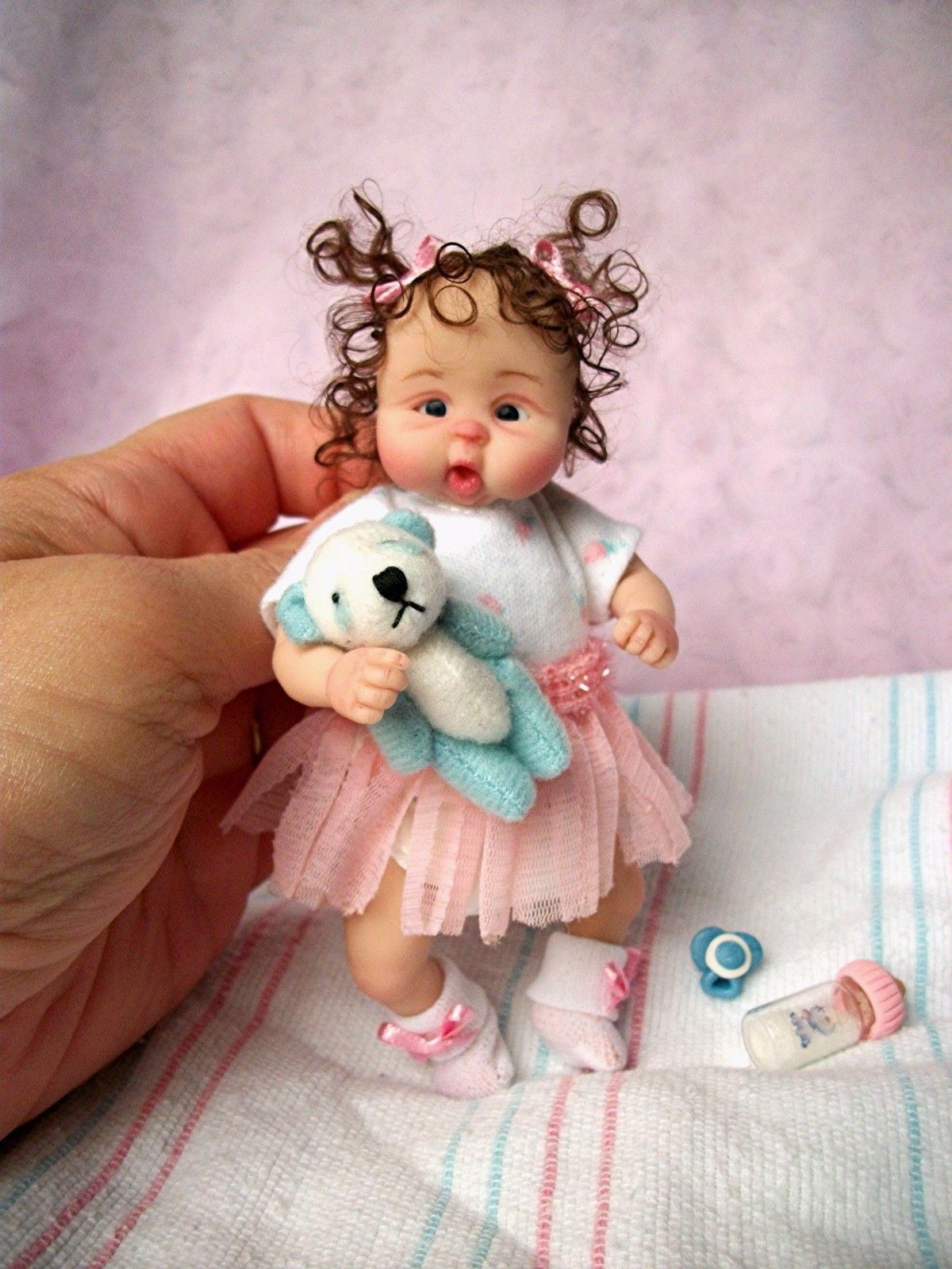 Details about OOAK POLYMER CLAY BABY GIRL FAIRY! MINIATURE