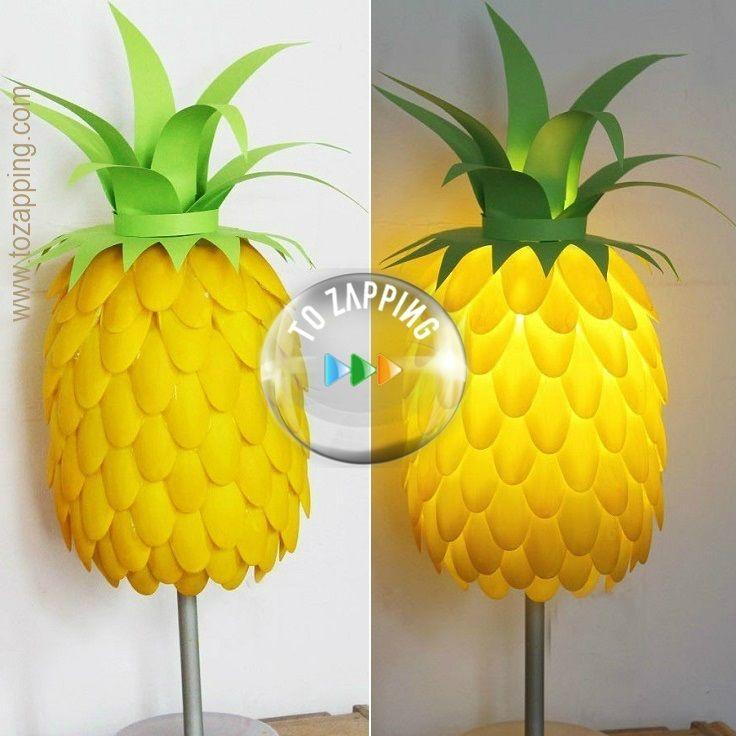 C mo hacer una l mpara en forma de pi a belleza y moda - Como hacer una lampara ...