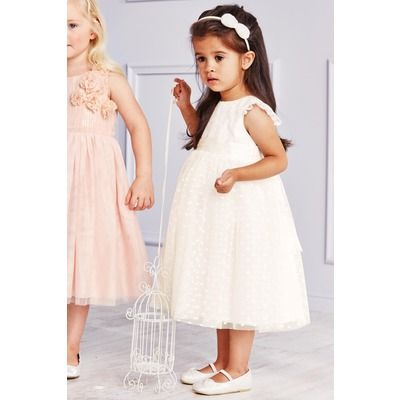 robe de demoiselle d 39 honneur petite fille next creme vue 1 robe mariage enfant pinterest. Black Bedroom Furniture Sets. Home Design Ideas