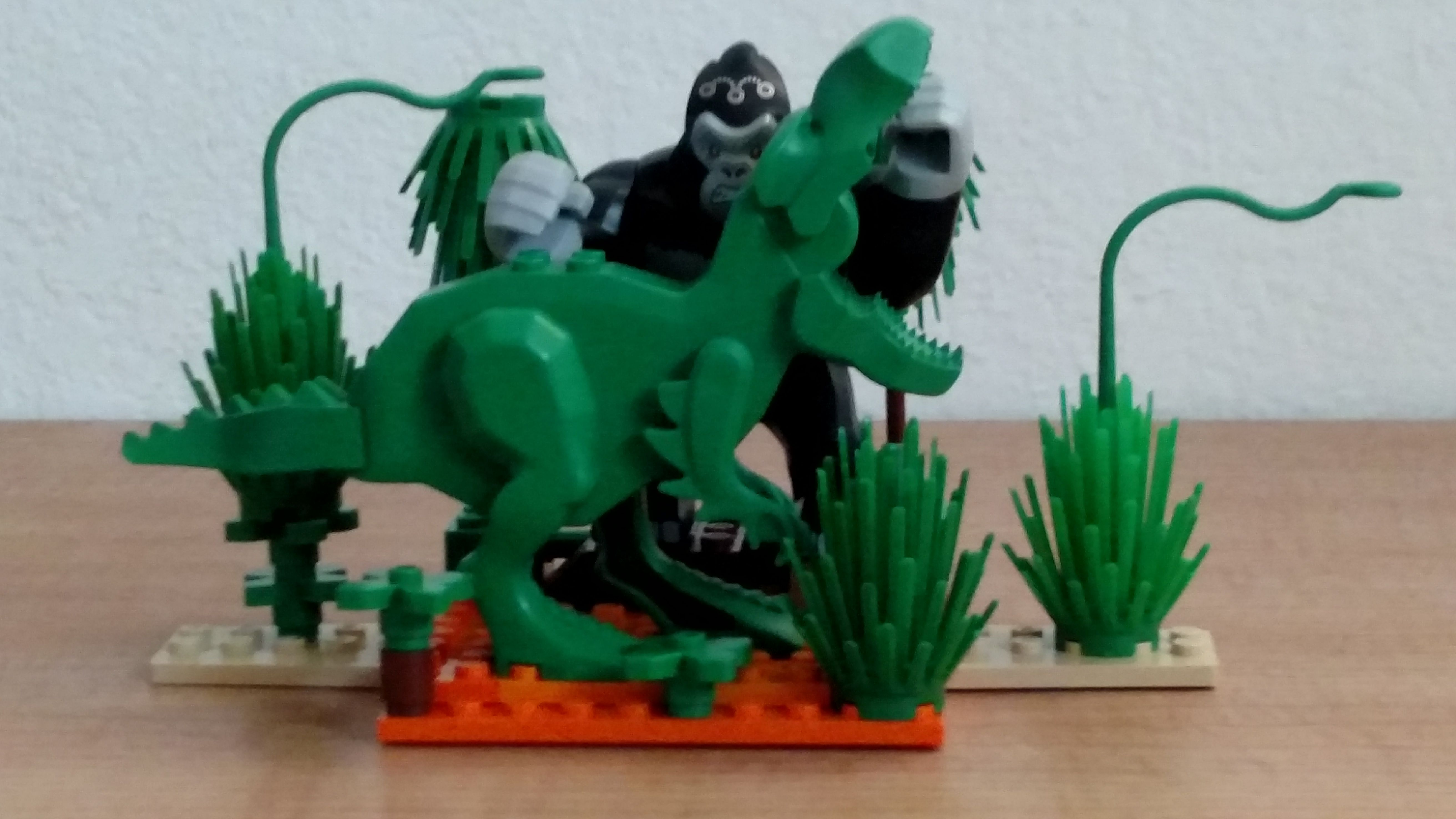 Kong Vs T Rex Gorilla Grod Is Scaled Perfectly To Lego S First Dinosaurs To Recreate The Scene