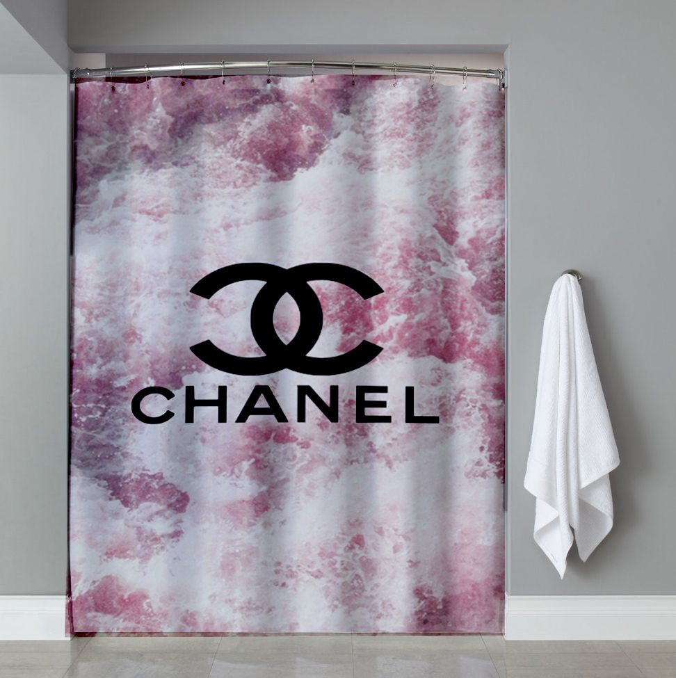 logo coco chanel shower curtain cheap