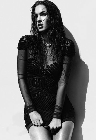 Amazingly beautiful black and white high fashion photography sexy megan fox heats up alexei hay photoshoot fashion fame