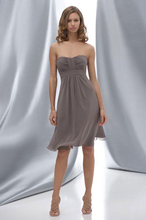 Scoop chiffon bridesmaid dress with empire waist