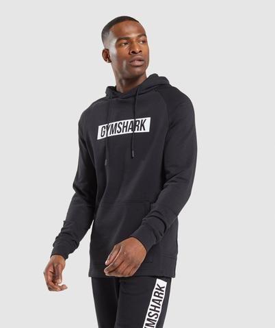 Gymshark Block Hoodie - Black/White