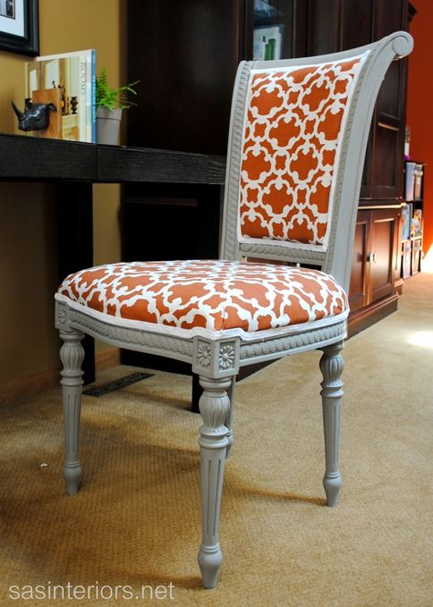 Reupholstered Desk Chair, Chalk Paint, Painted Furniture, Reupholster, My  Revamped Reupholstered Chair