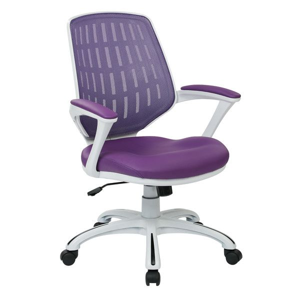 Osp Designs Ave Six Calvin Mid Back Mesh Office Chair Mesh Office Chair Traditional Office Chairs Office Chair
