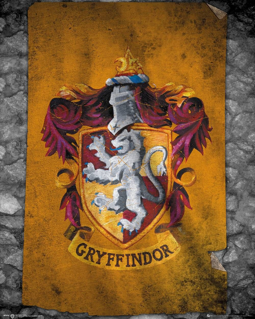 Maxi Size 36 x 24 Inch Harry Potter Crests Poster New
