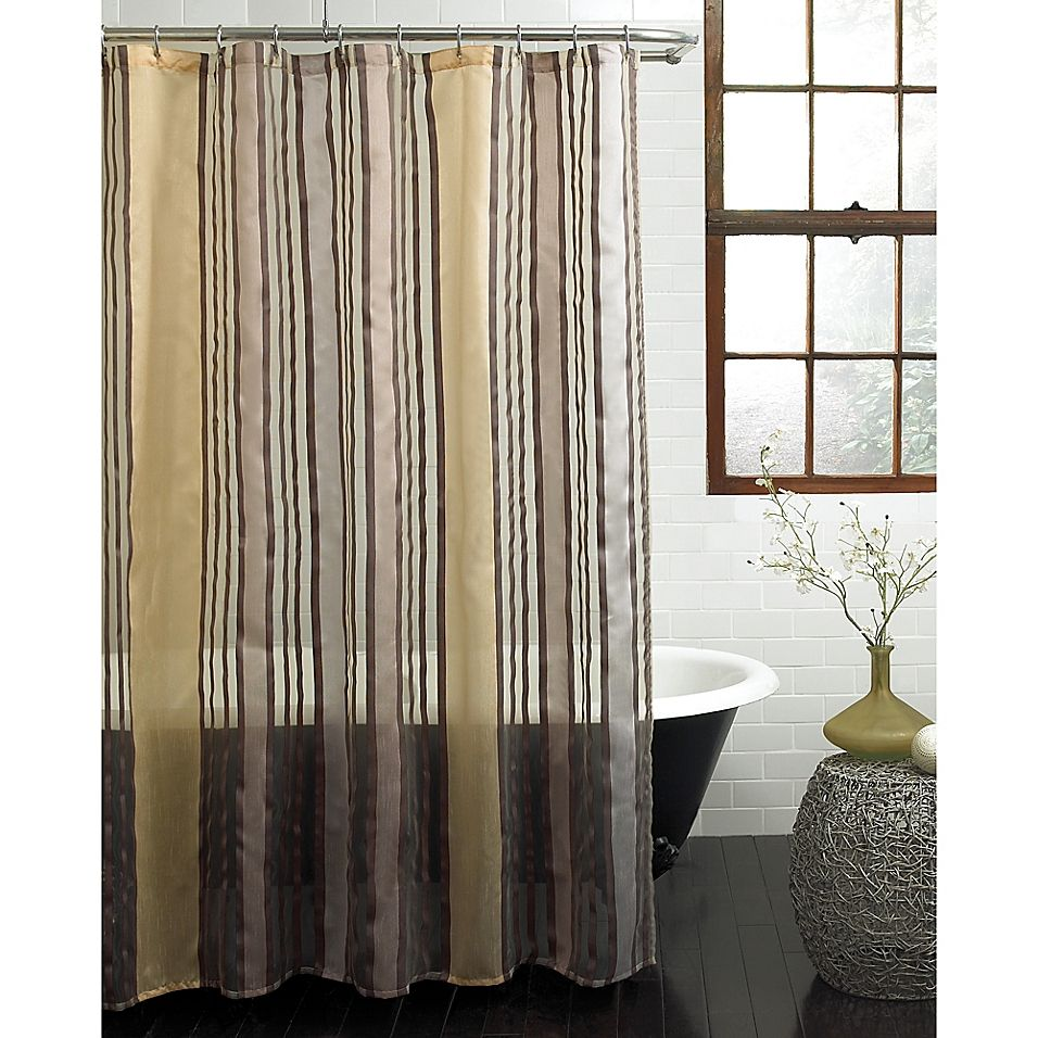 Butterflied Shower Curtain In Gold Fabric Shower Curtains