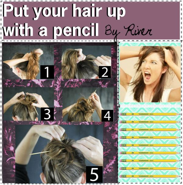 how to put your hair up in different styles quot how to put your hair up with a pencil quot by the amazing tip 7574