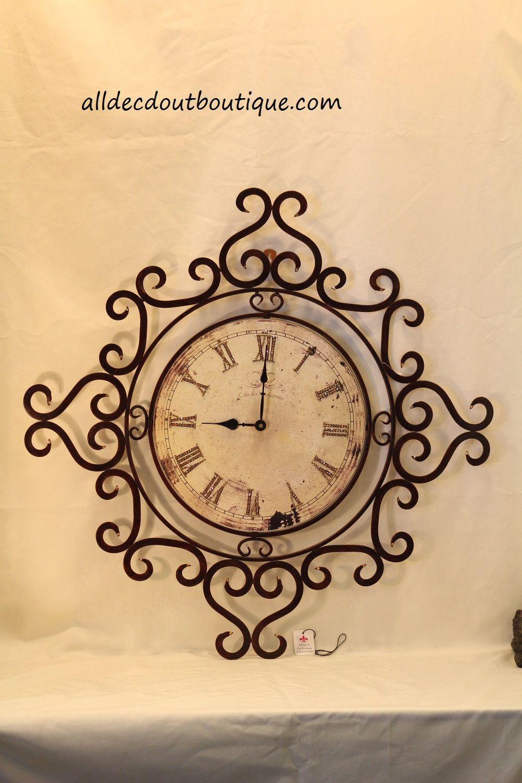 Wall Decor Clock | Embellished Topaz Crystals | Topaz, Clocks and ...