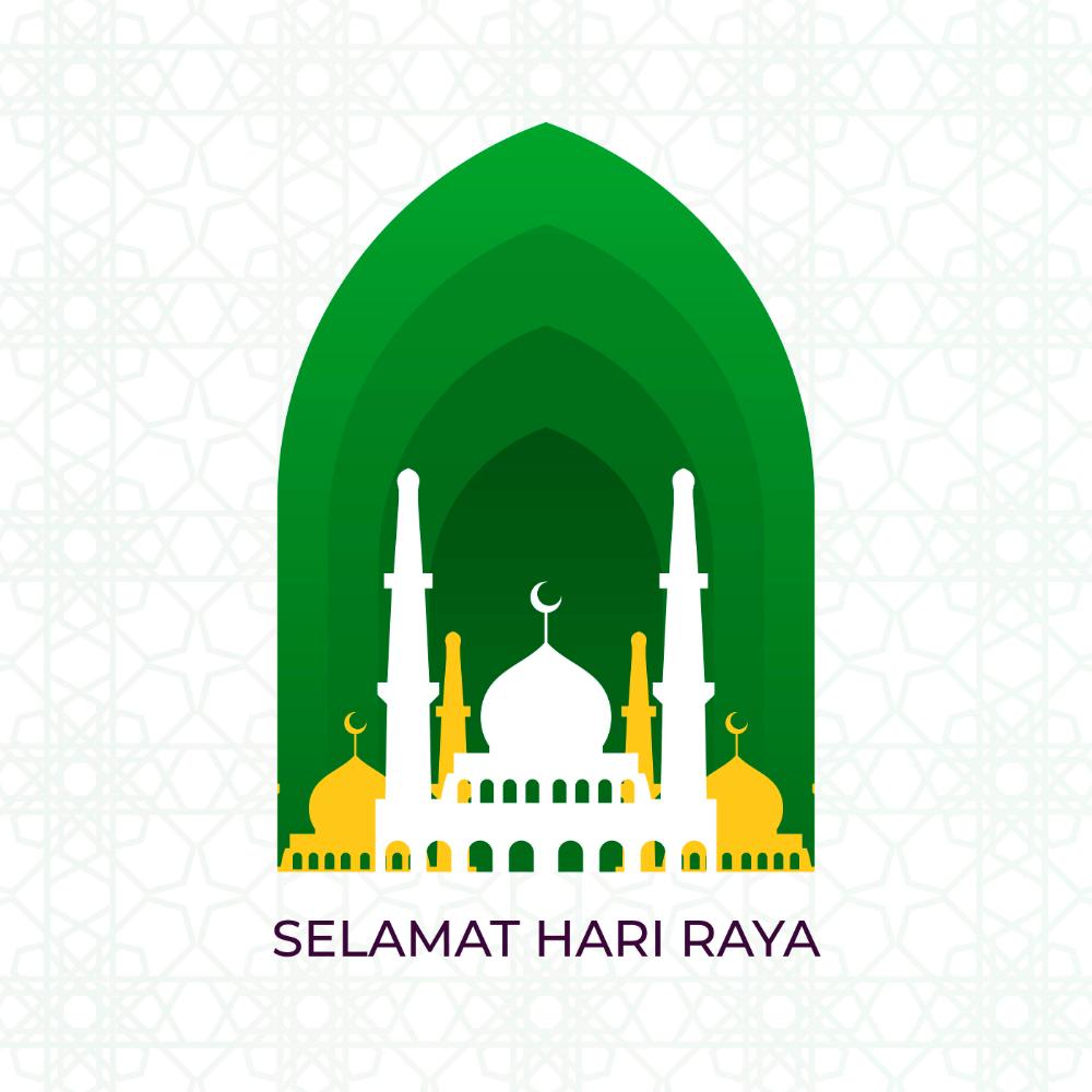 Download Flat Selamat Hari Raya Eid Mubarak Vector Illustration Vector Art Choose From Over A Mil Eid Mubarak Vector Ramadan Kareem Vector Vector Illustration