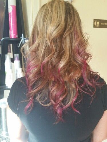 Pink Partial Ombre Long Hair Styles Pink Hair Hair Color