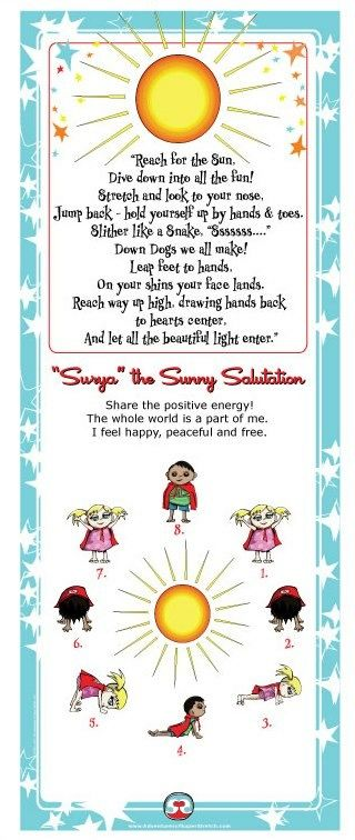 Sun Sal Poem Yoga For Kids Kids Yoga Teacher Training