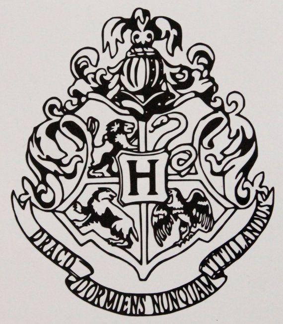 hogwarts house crest vinyl decal von allonsycreations auf etsy harry potter. Black Bedroom Furniture Sets. Home Design Ideas