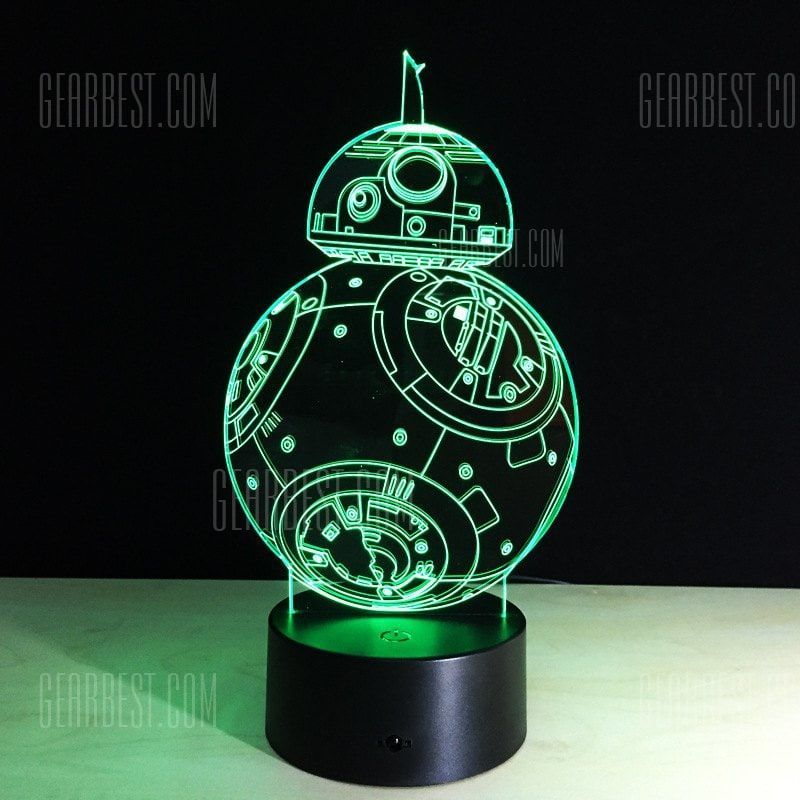 Yeduo 7 Color Holiday Atmosphere Decorative Kids Gift Robot 3d Ilusion Lamp Light Lighting Gadget Led Night Li 3d Led Night Light Led Night Lamp Star Wars Lamp