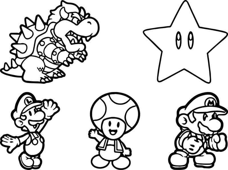 Super Mario Sheet Coloring Page In 2020 Super Mario Coloring Pages Mario Coloring Pages Coloring Pages