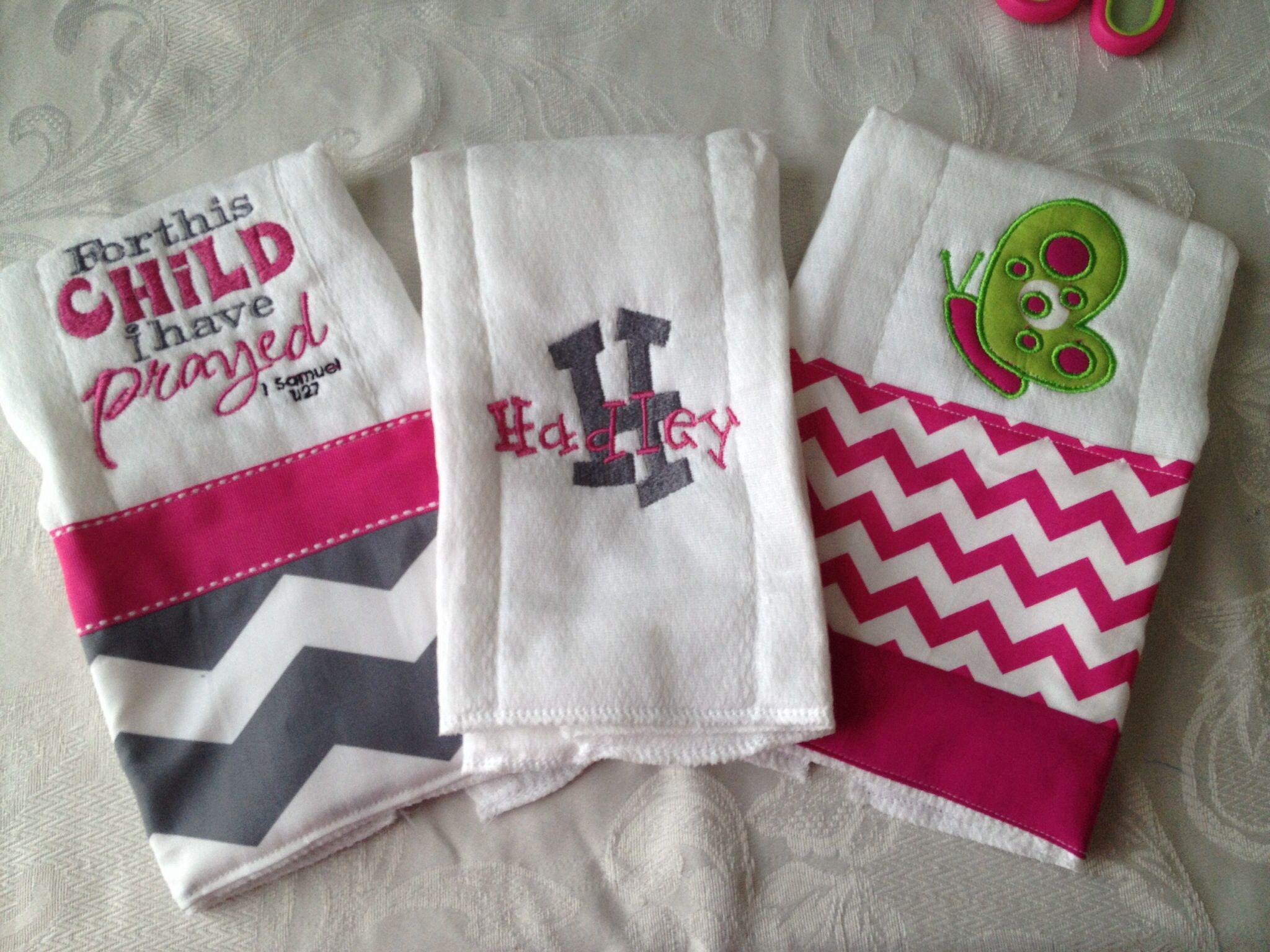Set of 3 burp cloths!!