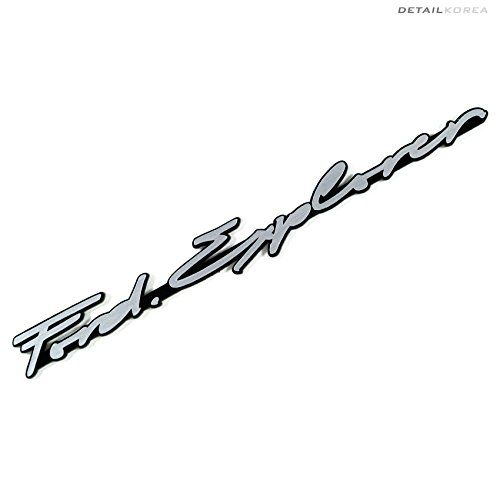 Detailkorea Car Name Cursive Lettering Emblem E-Type Silv... https://www.amazon.com/dp/B01K9LWEEE/ref=cm_sw_r_pi_dp_x_LRxRxbE6Z5YX4#Ford_Explorer_emblem #Ford_emblem #car_emblem #handwriting_emblem #Ford_Explorer #Ford