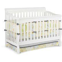Walmart Delta Children S Products Silverton Sleigh 4 In 1 Fixed Side Crib White Cribs White Baby Furniture Convertible Crib White