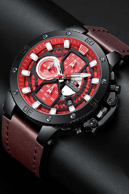 Zincon Mens Chronograph Leather Watch în 2020