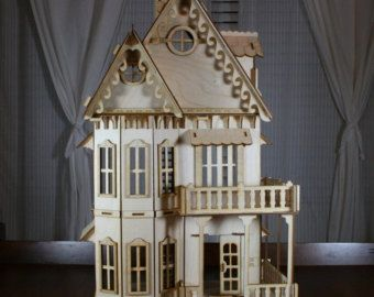 Crockett Victorian Dollhouse Kit 1/2 Scale #victoriandollhouse