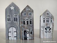 Ihr könnt euch sicher noch an die roten Schwedenhäuser vom Sommer erinnern,die aus uralten Holzbalken gefertigt wurden.Sie waren in meinem DaWanda-Lädchen innerhalb kürzester Zeit vergriffen.Das war