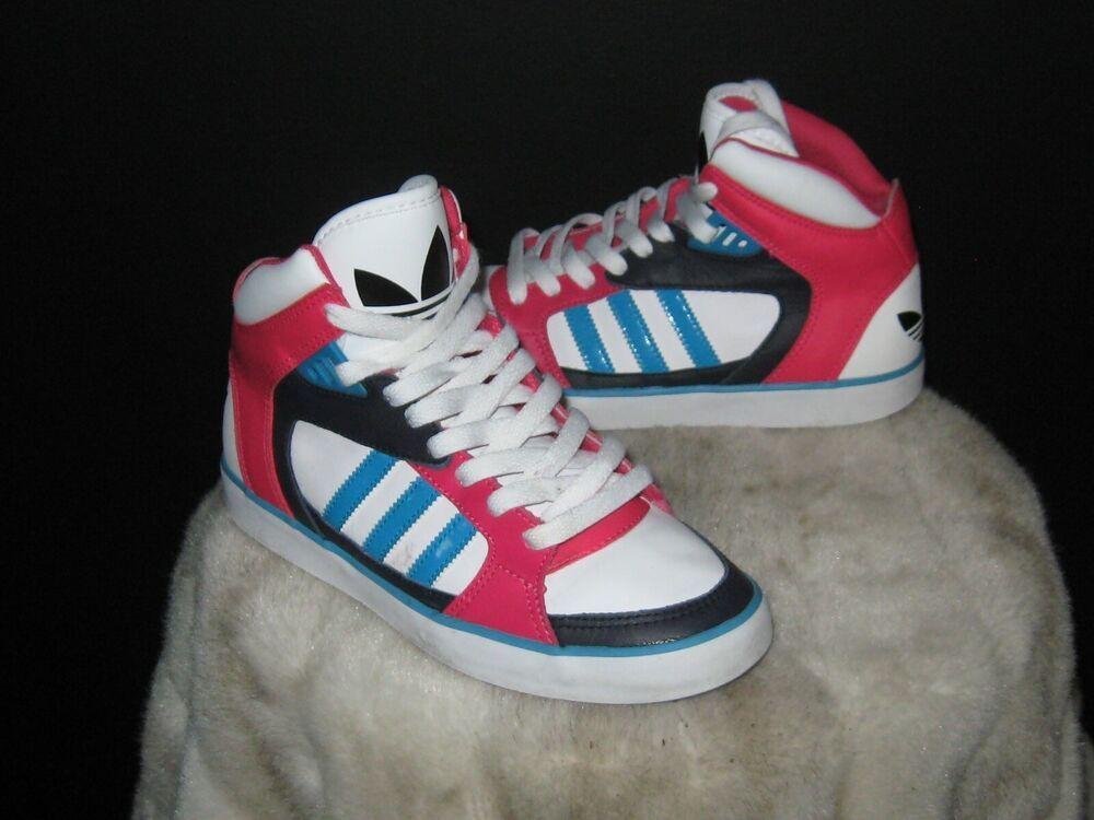 sale retailer fcd23 da445 Womens Adidas Amberlight High Sneakers Sz 6 PinkRoyalWhiteNavy Q20380  adidas BasketballShoes