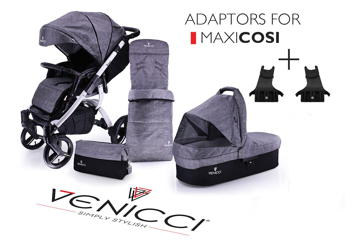 Ve Denim Grey + maxicosi Changing bag, How big is baby