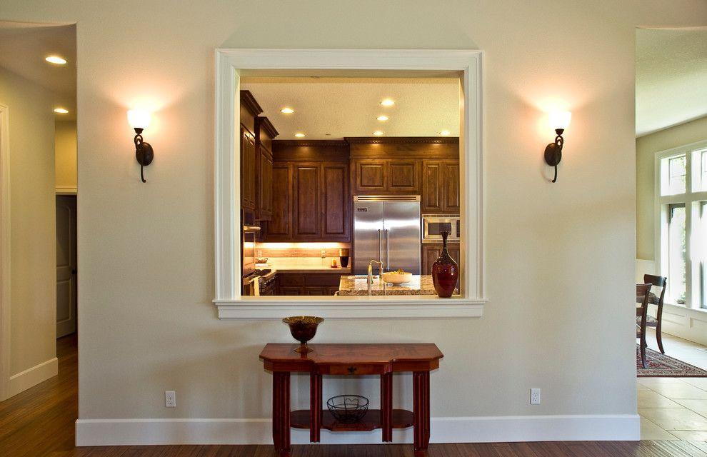 Kitchen Pass Through Window Kitchen Traditional With Dark Kitchen