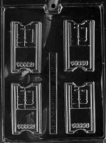 THEATRE TICKET chocolate candy mold by CybrTrayd,