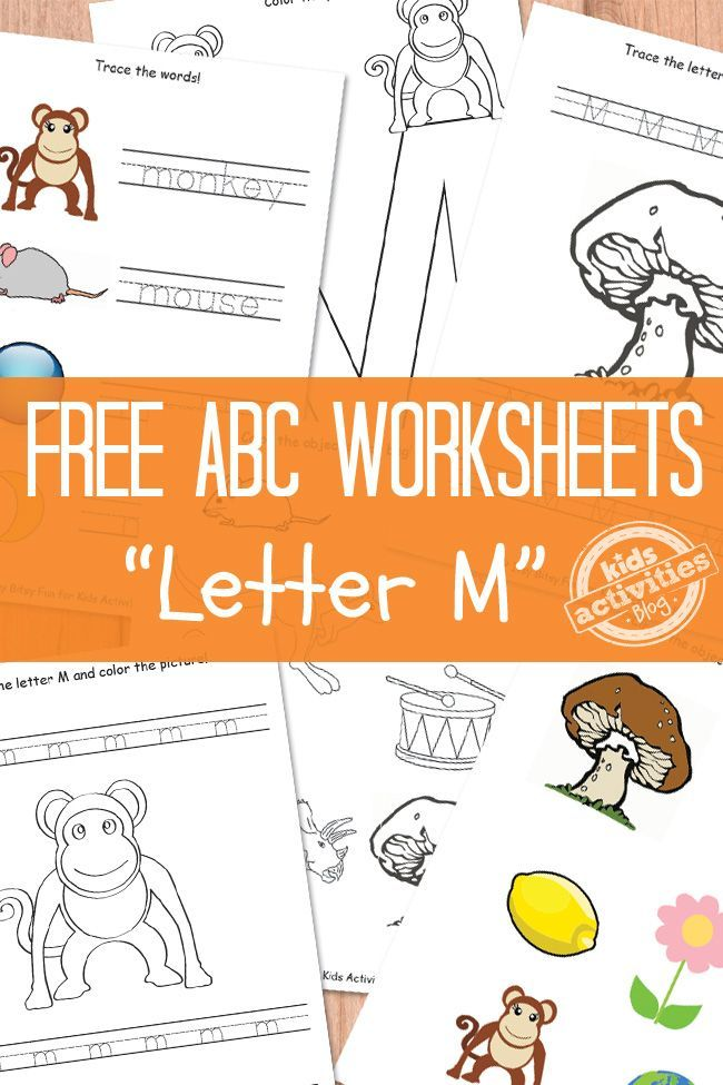 Letter M Worksheets Free Kids Printable Free Educational