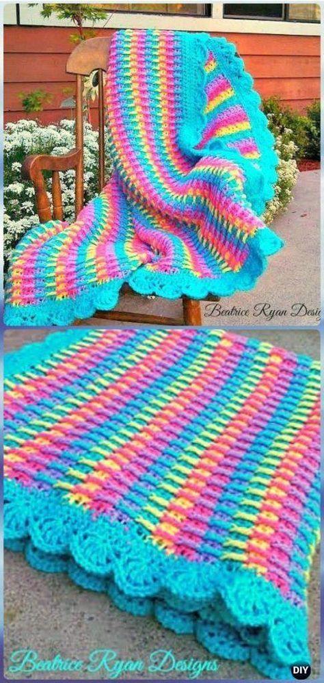 Crochet Rainbow Dash Baby Blanket Free Pattern - Crochet Rainbow ...