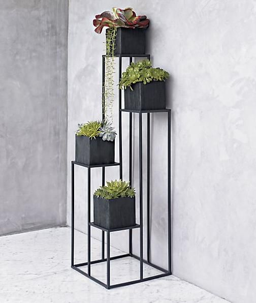 Quadrant Plant Stands Geometric Stands In Steel With
