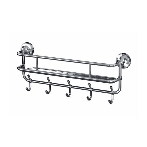 MOGDEN Wall shelf with 5 hooks $34.99 Product dimensions