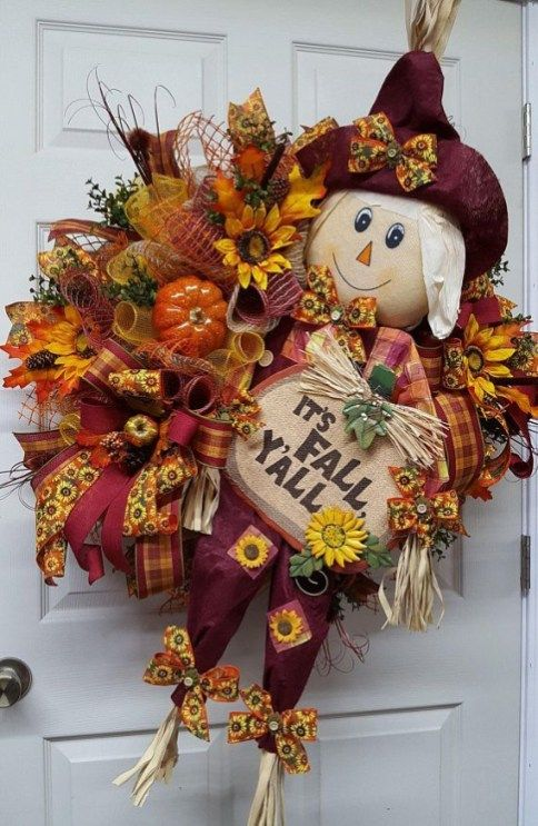 38 Hello Fall! Unique DIY Decor Front Door - #hellofall