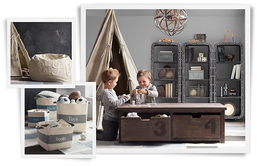 Rooms | Restoration Hardware Baby & Child. Mason Table for coffee ...
