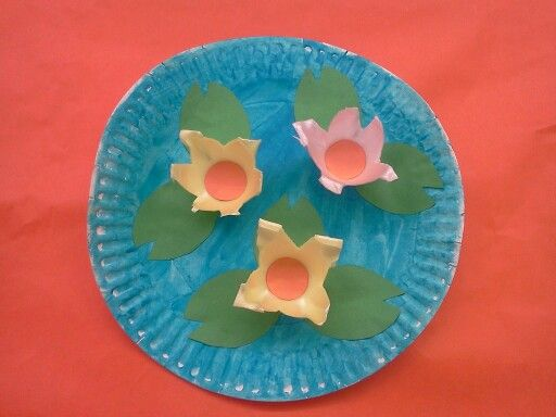 Lotus Flower Or Water Lily Craft Uses A Paper Plate And Foam Egg