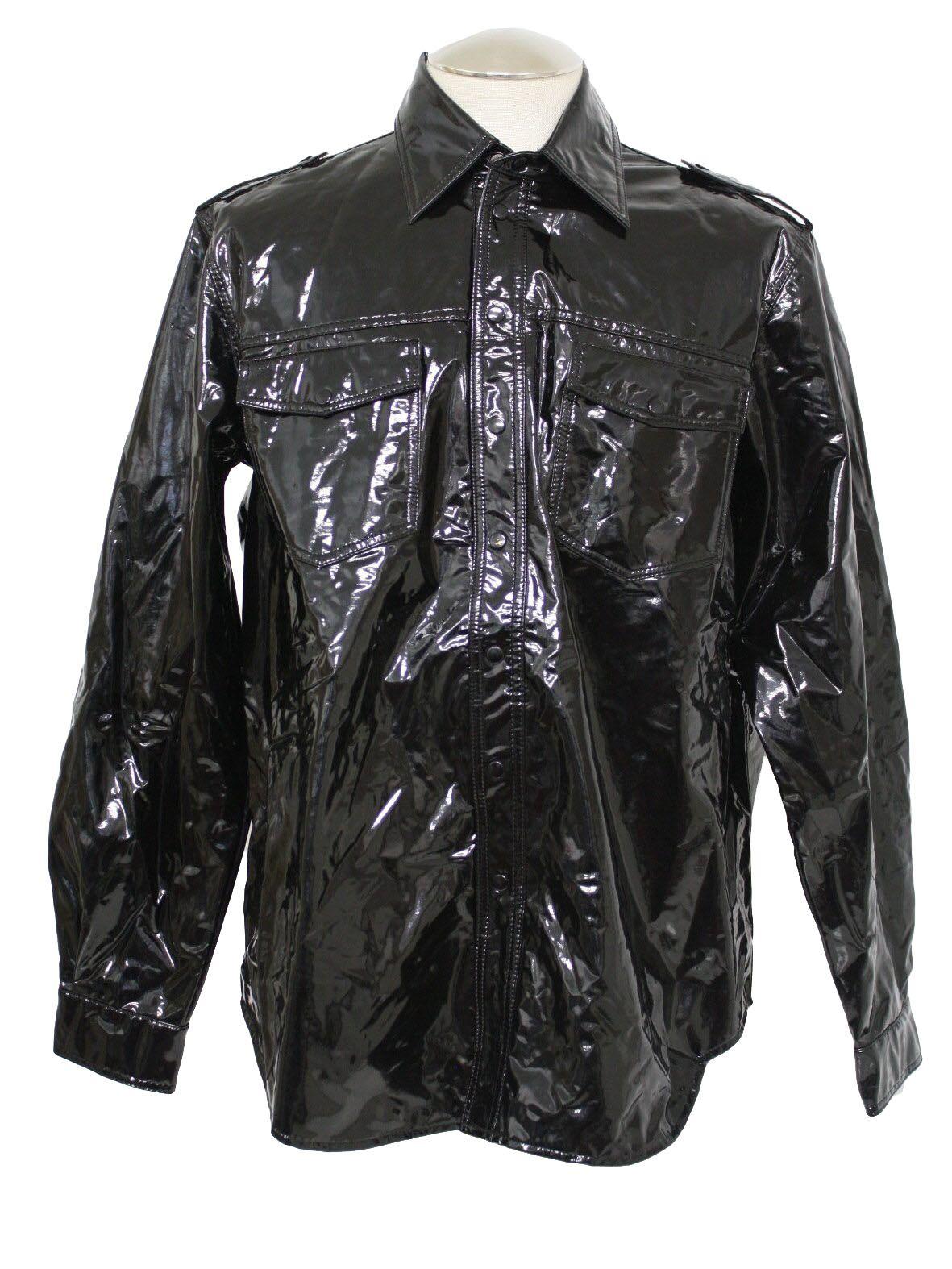Black and white 80s jacket
