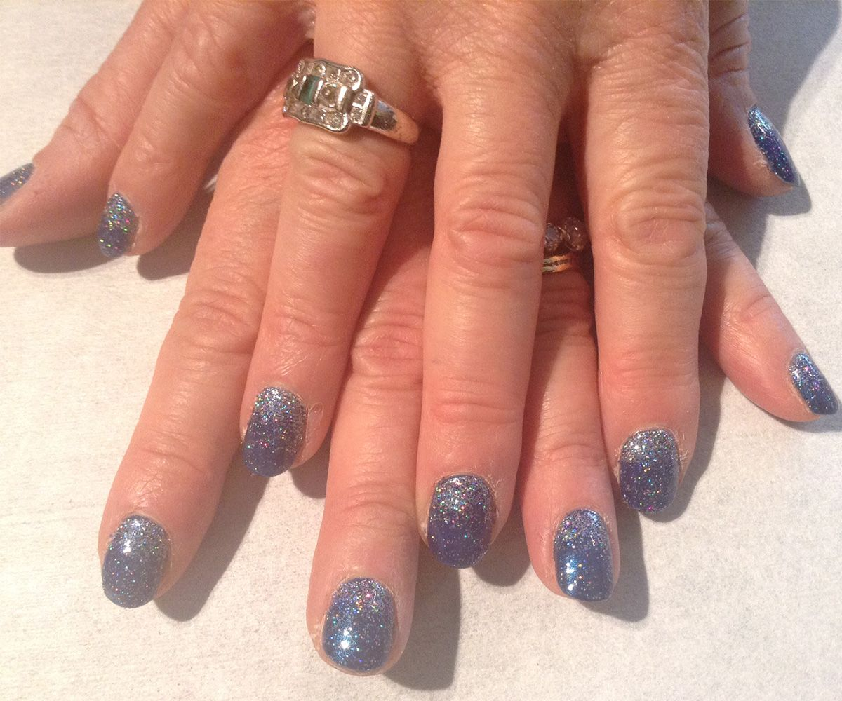 Jessica Christmas Nails: Jessica Midnight Moonlight And Silver Sparkle On Top For