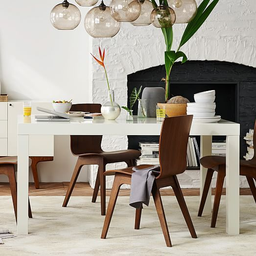 Versatile Kitchen Table And Chair Sets For Your Home: Parsons Dining Table - Rectangle
