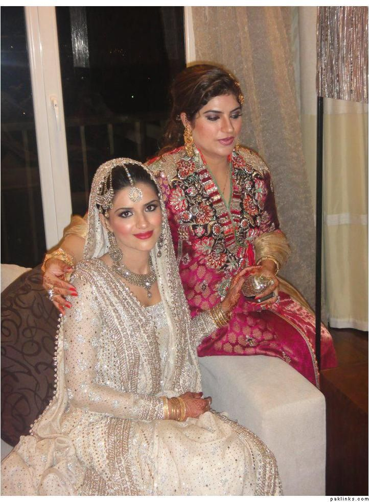 pakistani white and ivory wedding dress