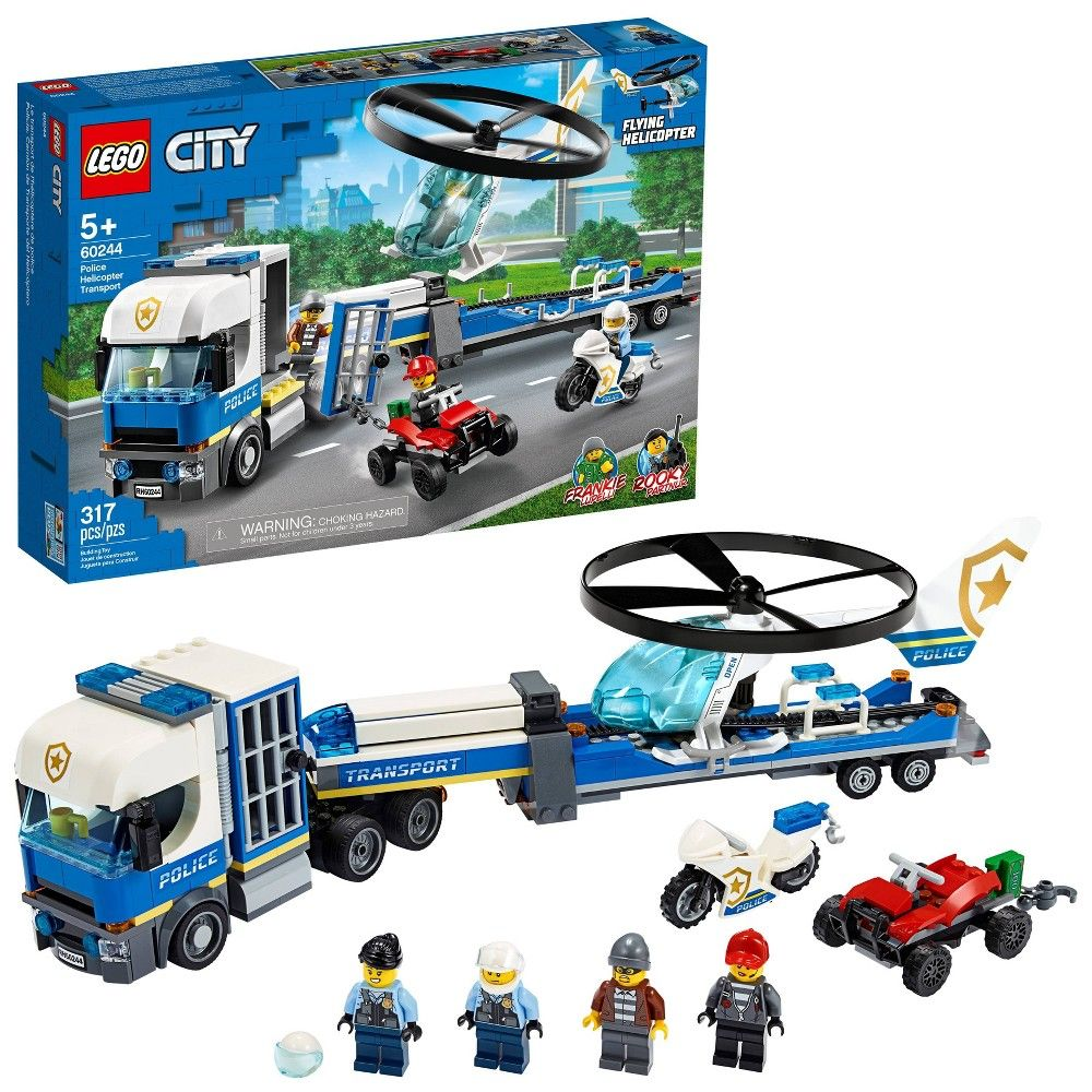 Lego City Police Helicopter Chase Building Set For Kids 60244 Lego City Lego City Police Helicopter Lego City Police Sets