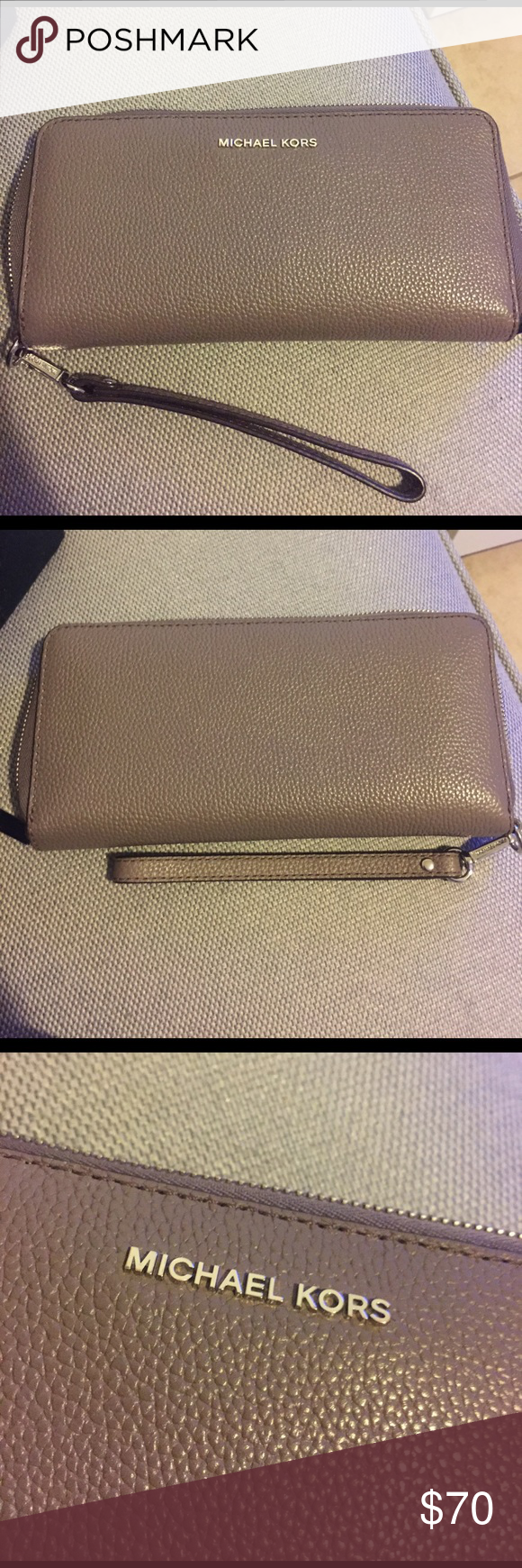Michael Kors Wallet Color : Cinder . Very roomy wallet and I've only owned it for a month. In excellent condition. Michael Kors Bags Wallets