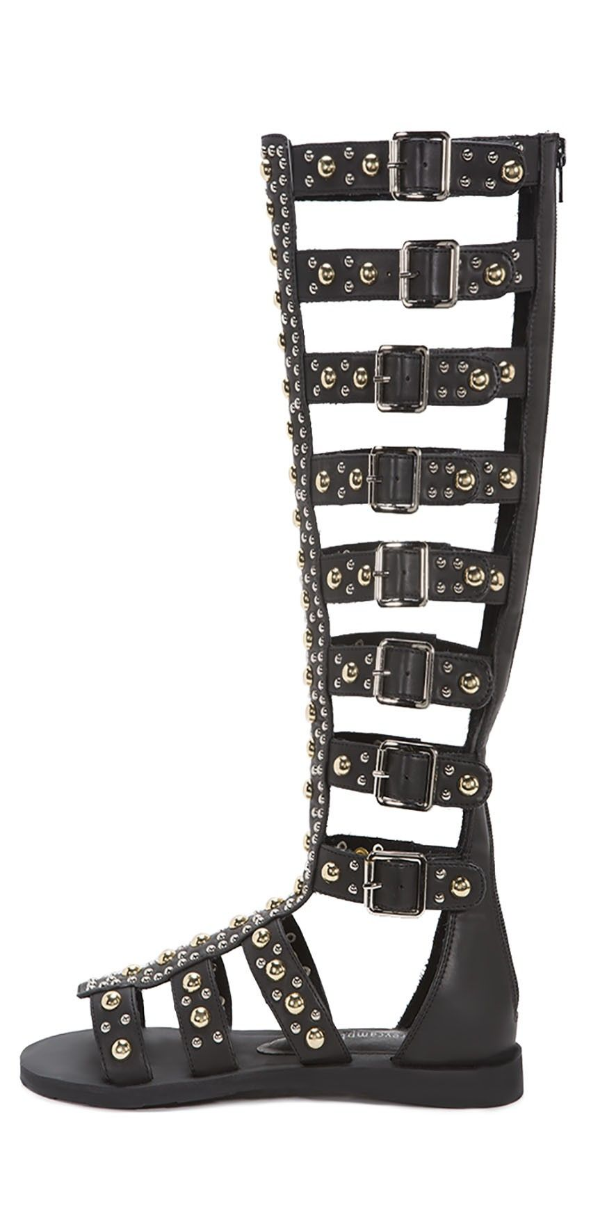 1a1257d7c617 Jeffrey Campbell Shoes IZMIR-STUD Sandals in Black Multi Jeffrey Campbell  Sandals
