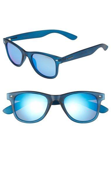 f5ad7cdc5b Women s Polaroid Eyewear 50mm Polarized Retro Sunglasses - Blue  Grey Blue  Mirror  Polar