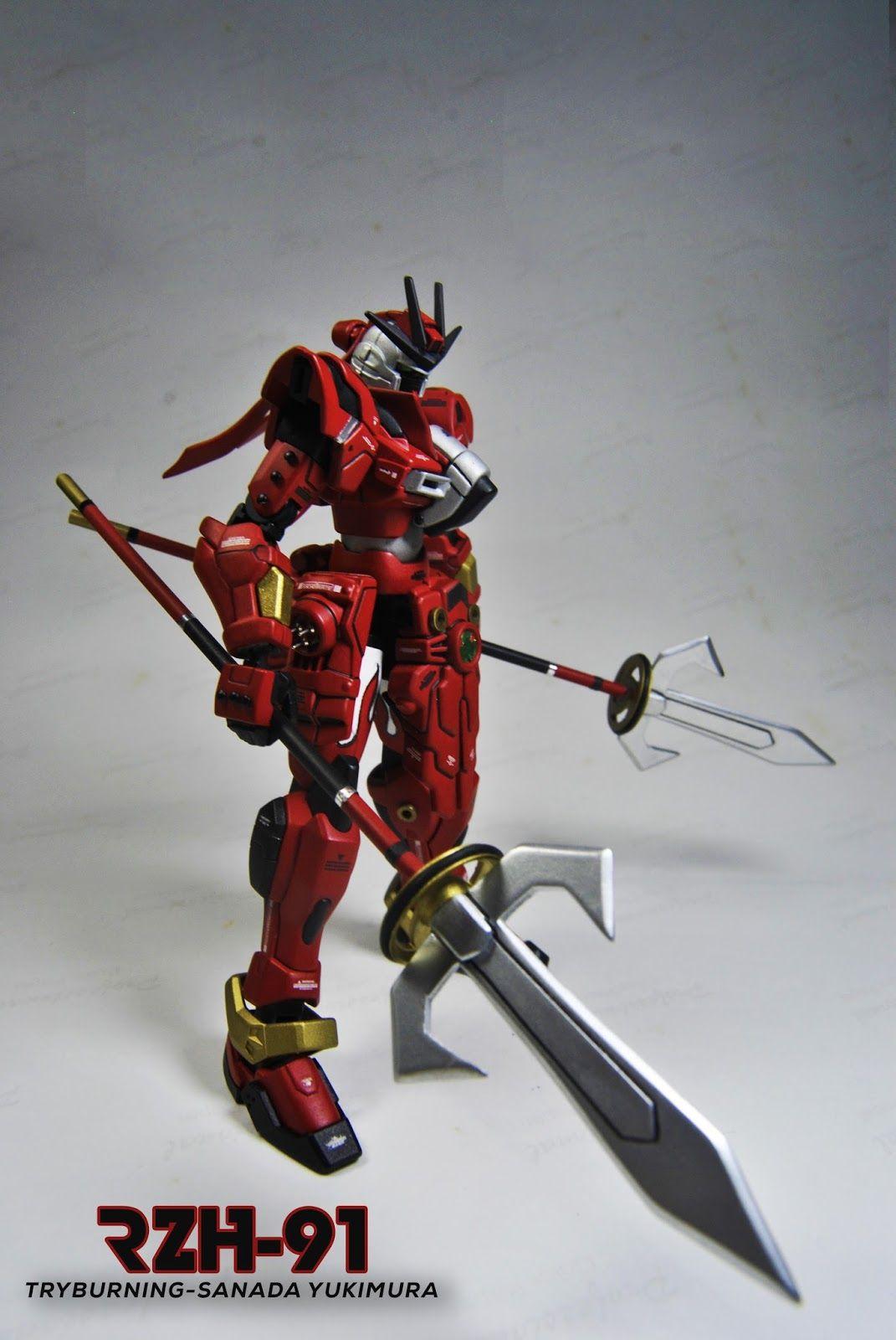 Custom Build Hgbf 1 144 Try Burning Gundam Sanada Yukimura