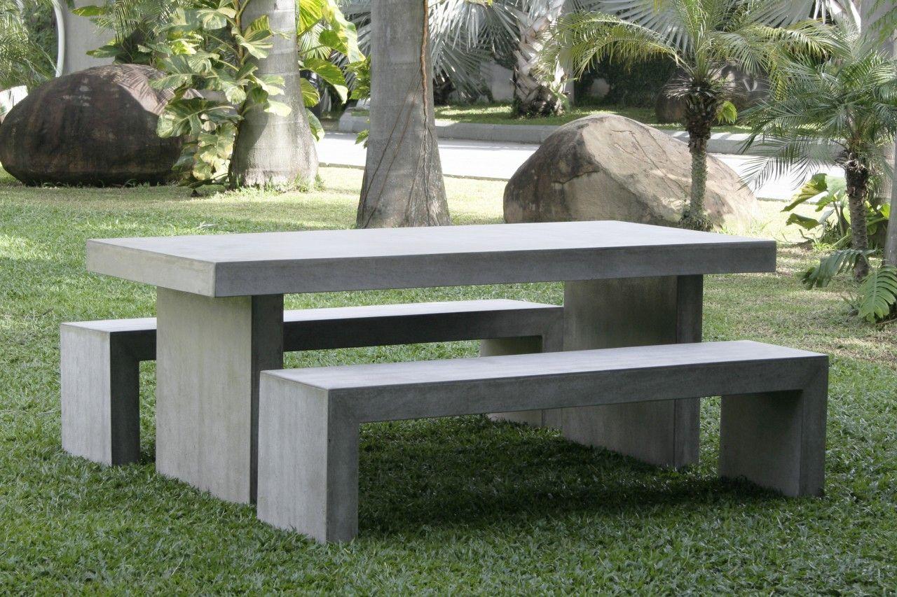 Lightweight Fiber Concrete Table $995 Table $495 Per Bench